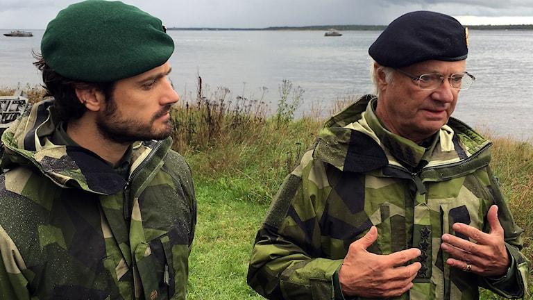 Prince Carl-Philip and king Carl XVI Gustaf
