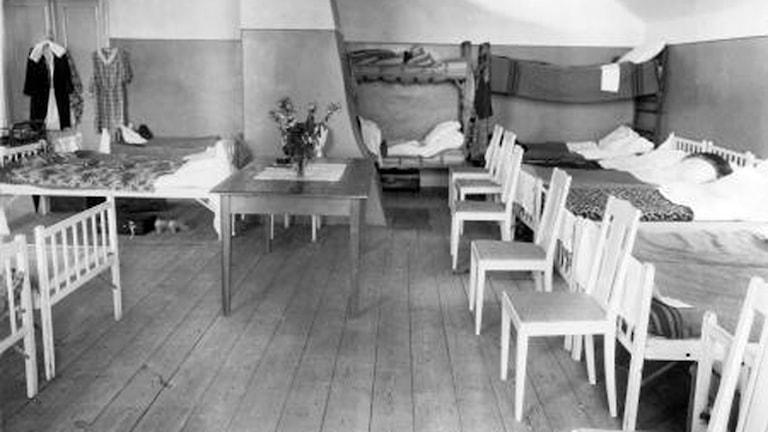Rum för resande på 1930-talet.