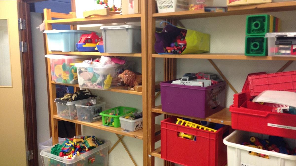 Leksaker på förskolan Myran. Foto: Jack Lantz/Sveriges Radio