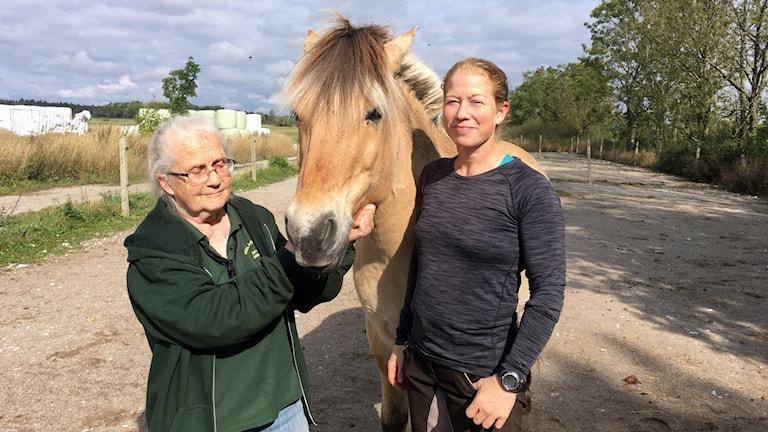 Hästägarna Blenda och Lisa Horwitz, mor och dotter som tillsammans driver gården Sindarve