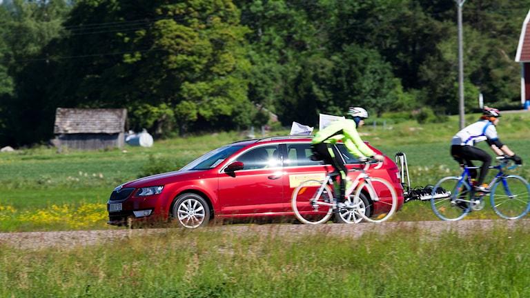 Cyklister på landsväg
