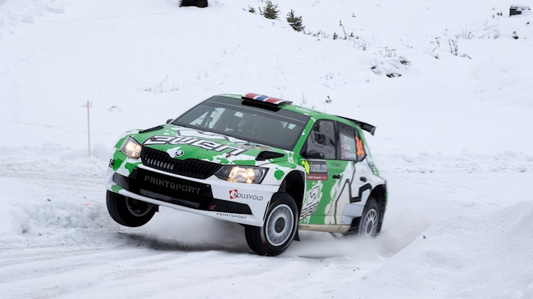Ole Christian Veiby, Norge, Skoda Fabia WRC2 under Svenska rallyt i Torsby på söndagen.