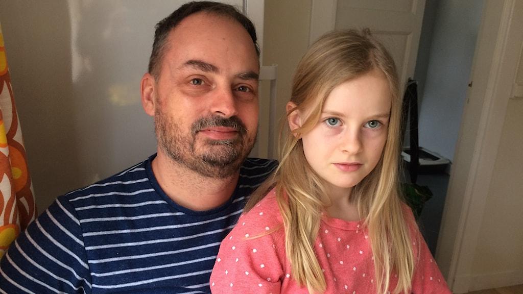 Mattias Ankarbrandt och dottern Sonja ser fram emot att bli Fleringebor lagom till sommaren.