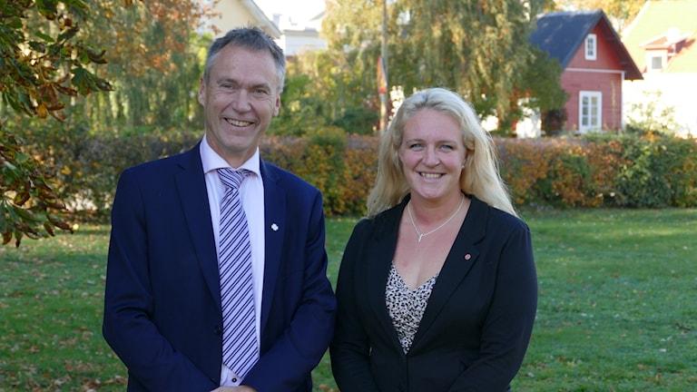 Riksdagsledamöterna Lars Thomsson (C) och Hanna Westerén (S).