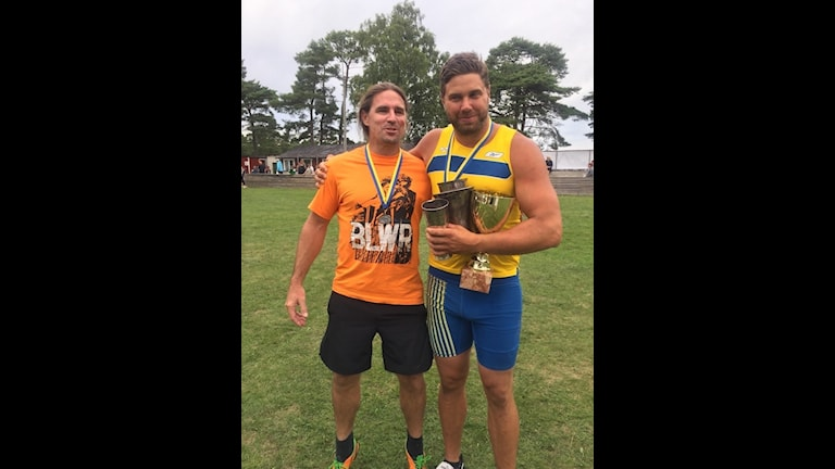 Erik 'Larsson vann den gutniska idrotten över Peterus Sundevall