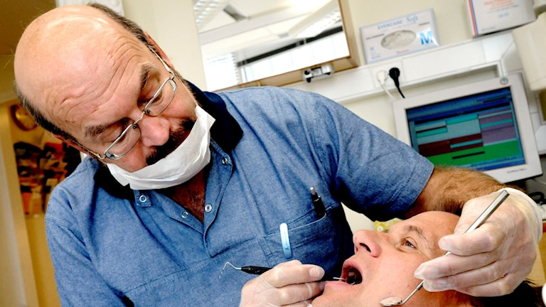 Patient hos tandläkare.