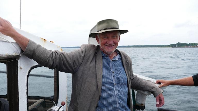 Länsfiskekonsulent Rolf Gydemo i sin rätta miljö.
