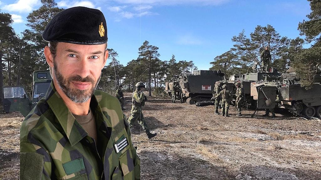 Tomas Ängshammar, berättar att det fö ofta händer att civila beträder skjutfältet.