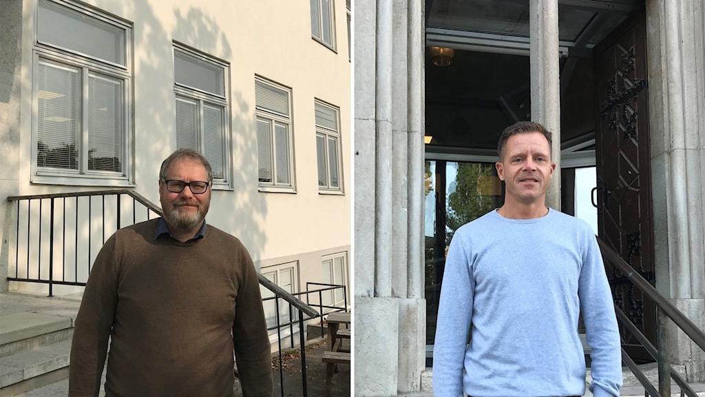 Jan Källström, rektor på Fårösundskolan och Henrik Hammarskjöld, rektor på S:t Hansskolan.