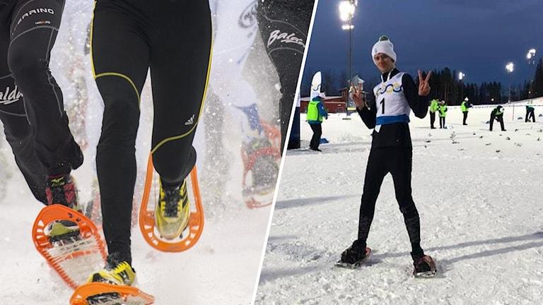 Jimmy Andersson, medaljör i snöskor. Östersund.