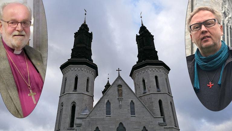 Biskop Sven-Bernhard Fast, domkyrkan och domprost Mats Hermansson