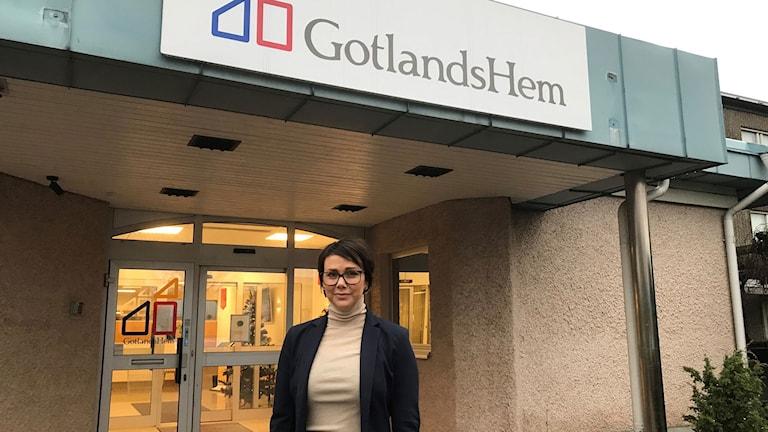 Kajsa Haack, kundtjänstchef Gotlandshem