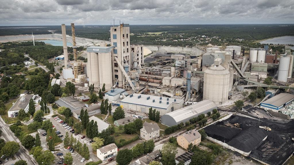 Cementas fabriksområde i Slite.