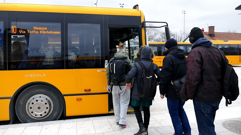 Visby, Gotland, Hemse, busstationen, kollektivtrafik