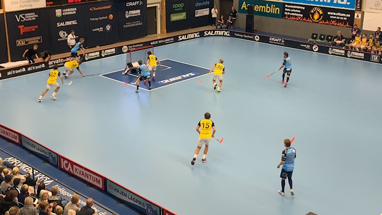 Match mellan Warberg och Visby IBK