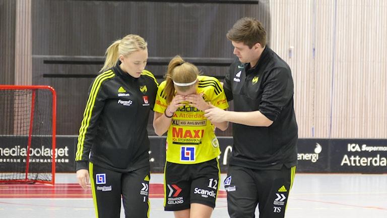 Ellen Bäckstedt Endre, skadad
