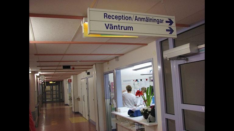 Sjukhuskorridor. Foto: SR Gotland