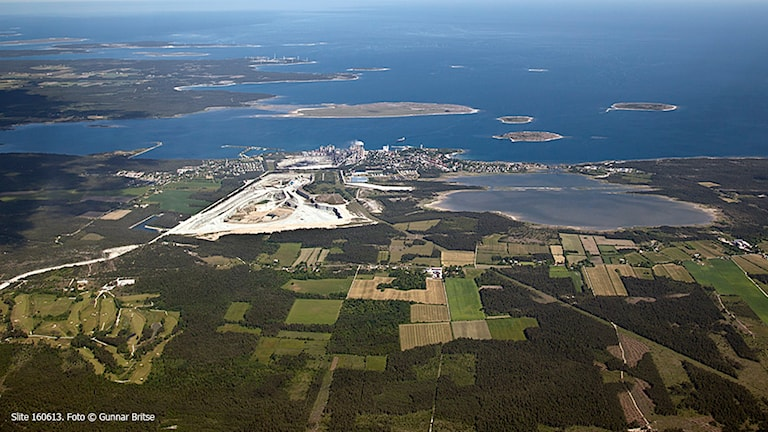 The Swedish harbour of Slite would be part of the pipeline. Photo: Gunnar Britse