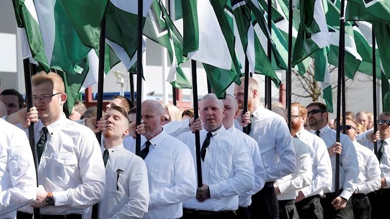 1 maj demonstrerade Nordiska Motståndsrörelsen i Falun.