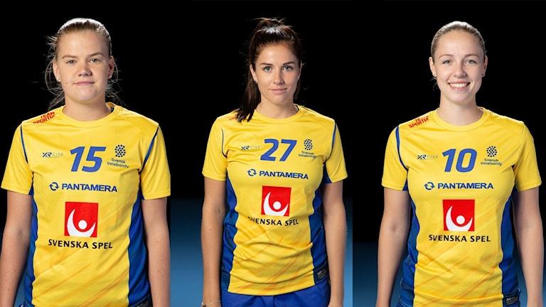 Ellen Bäckstedt, Sara Steen och Stephanie Boberg från Endre IF.