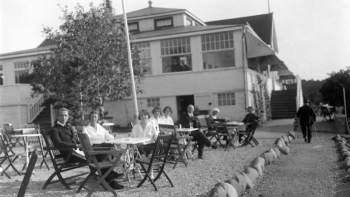 Uteservering på Gotland 1928.