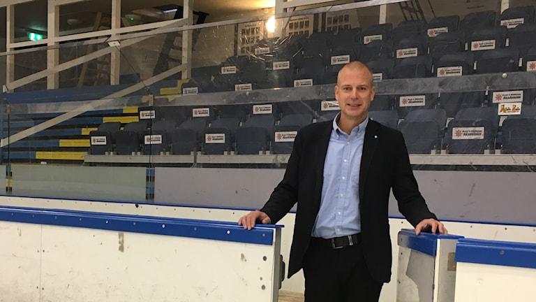 Visby Roma ungdoms ordförande Fredrik Godman.