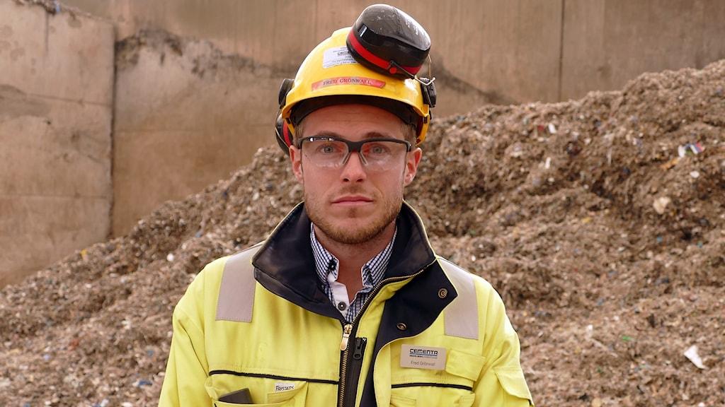 Fred Grönwall på Cementa i Slite