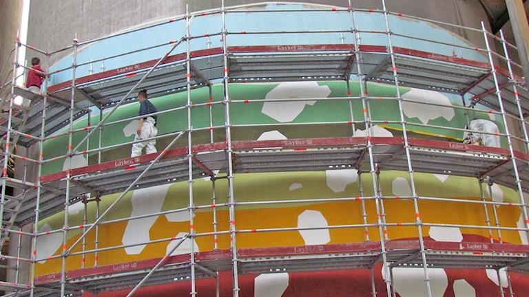 Muralmålning Slite Cementa