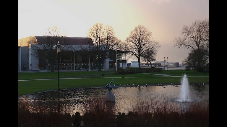 Almedalen med kongresshallen Wisby Strand. Foto: Henrik Wallenius/SR Gotland
