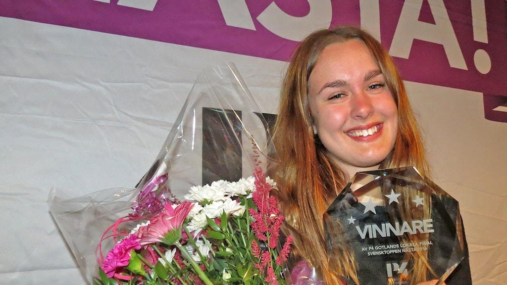 Nelli Sigrén vinnare i Svensktoppen nästa Gotland 2016