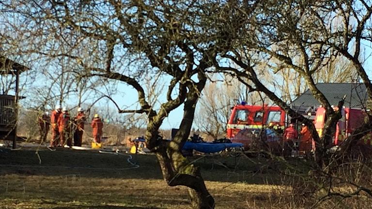 Räddningstjänsten på plats vid brand i Alskog