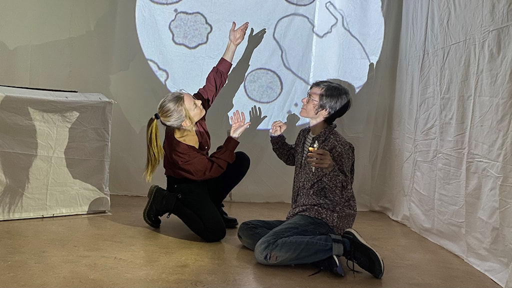 Dansaren Unn Dahlman och animatören Kristina Frank.