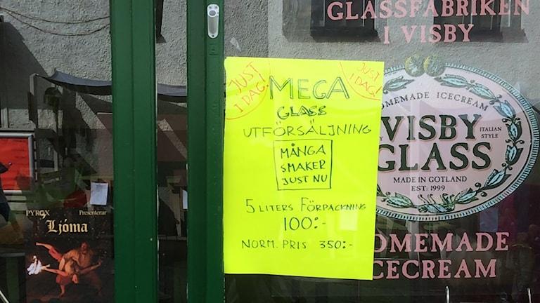 Glassbutik i Visby stänger