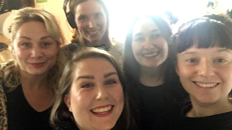 Angelica Jennesved, Amanda Heijbel, Anja Björk, Ellinor Sterner, Siri Wallenten.