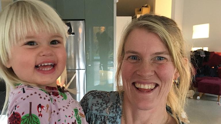 Maria Jansson med dottern Lisa Muttoni