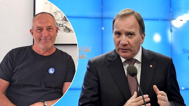 Montage: Mats-Ola Rödén, gotlandsliberalerna tillsammans med statsminister Stefan Löfven