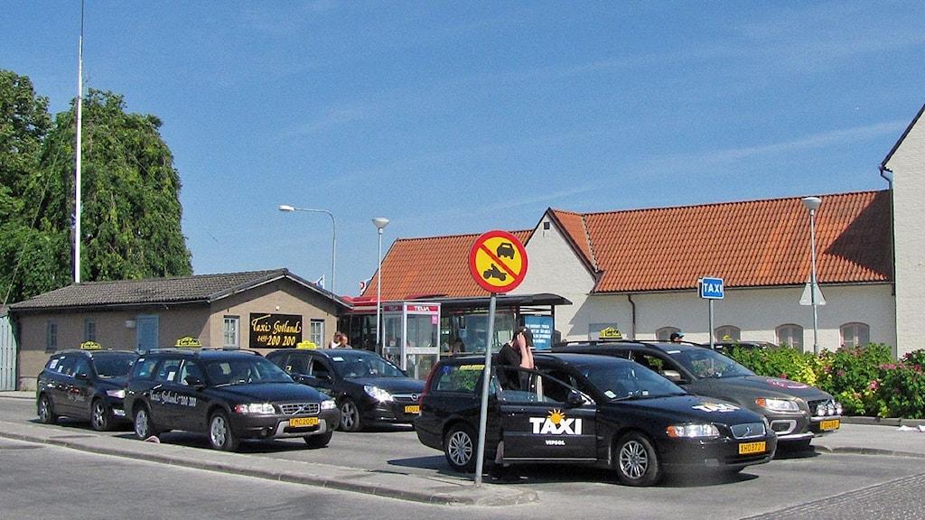 Taxistationen vid Östercentrum i Visby. Foto: