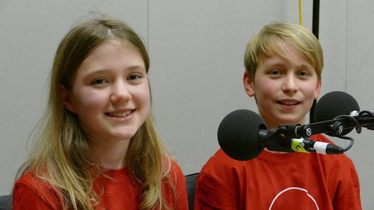 Gardaskolans Måns Larsson och Stina Jaxelius vann den fjärde kvartsfinalen vi i femman 2018