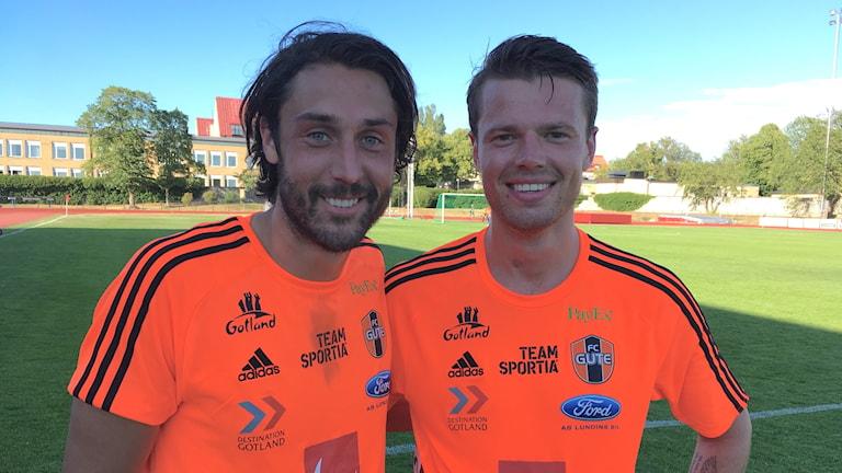Marcus Nobell och Gustaf Nordkvist i FC Gute