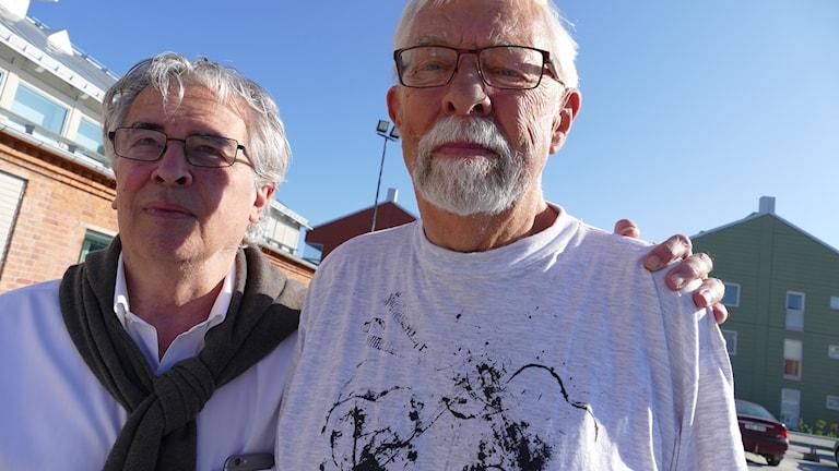 Staffan Scheja och Perolof Kallings från Gotlands kammarmusikfestival.