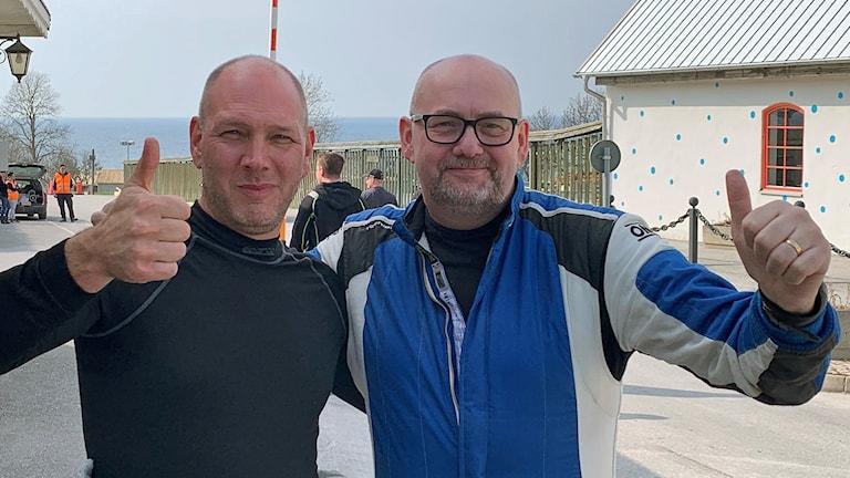 Kenny Stavbom och Nicklas Edvardsson