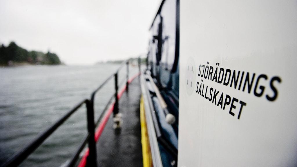 En båt från Sjöräddningssällskapet.