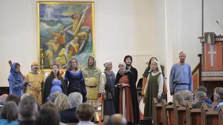 Volund i kyrkan i Siglufjordur på Island