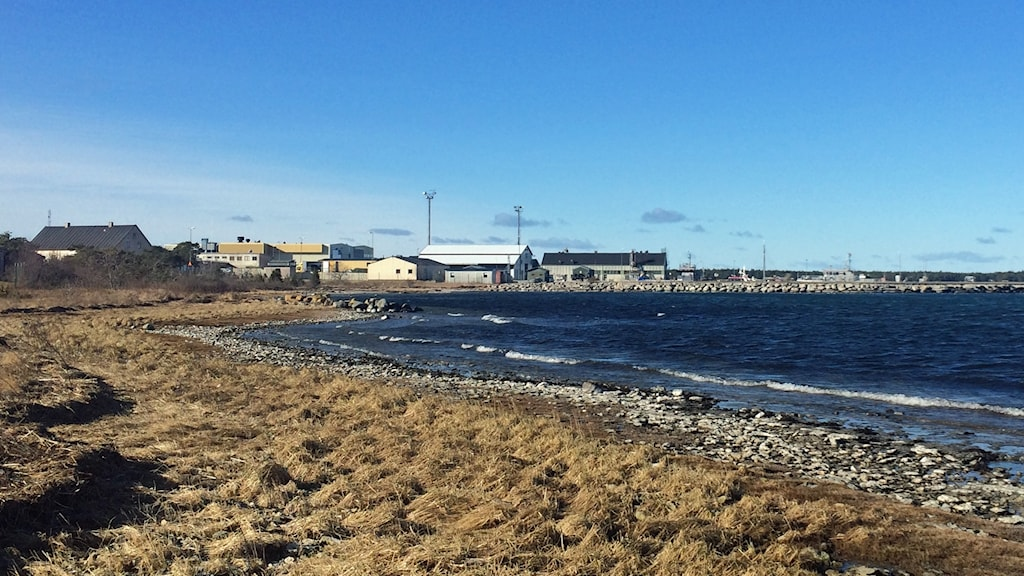 Marinvarvet marinhamnen i Fårösund