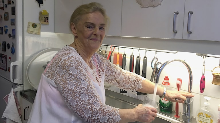 Irene Magnusson i Roma är orolig för sitt vatten