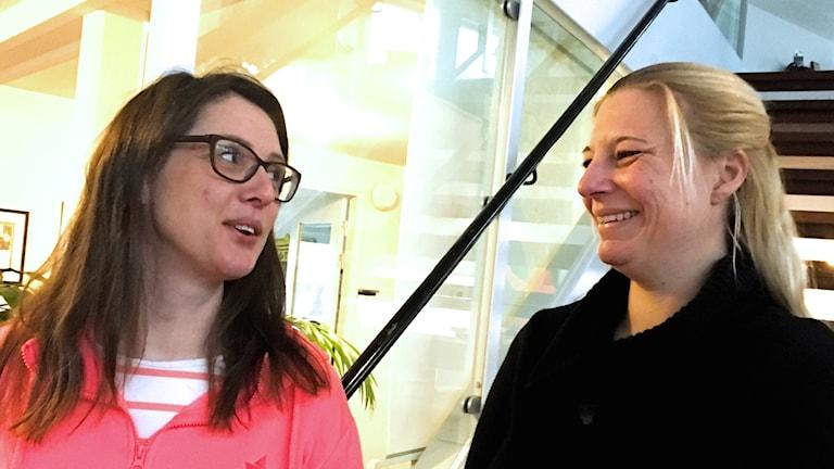 Emma Jonsson och Åsa Åhlén Magnus Åhlén driver Gothem Söderängens förskola tillsammans