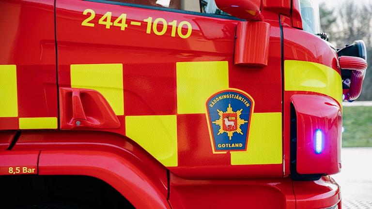 Räddningstjänsten, brand, räddningstjänsten gotland, sos gute, brandbil, brandman