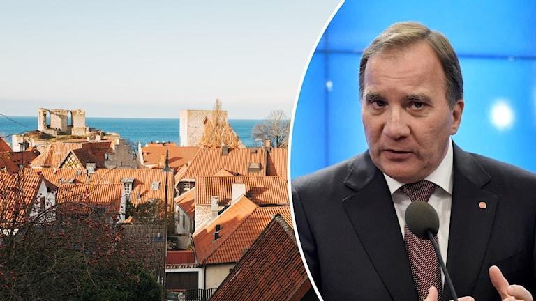 Statsminister Stefan Löfven håller jultal i Visby.