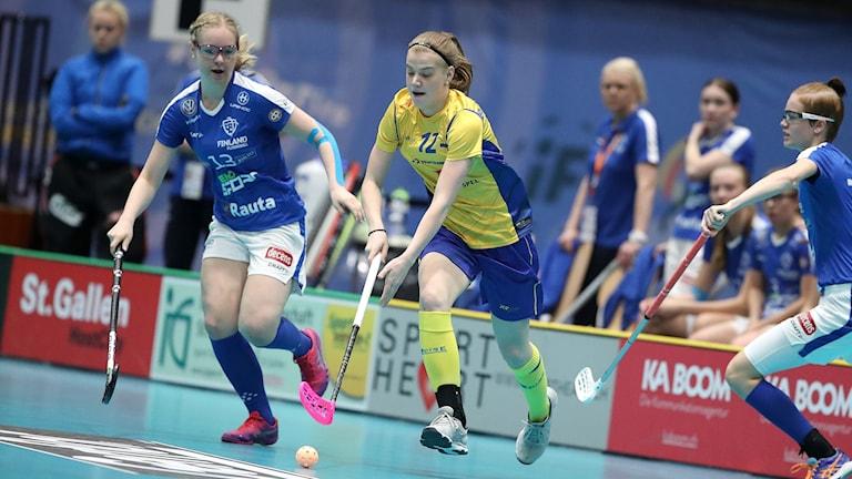 Ellen Bäckstedt i U19-finalen mot Finland