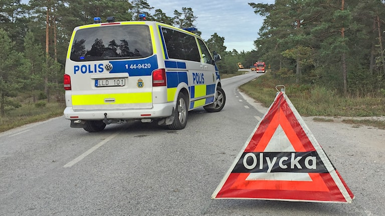 Polis vid olycksplats